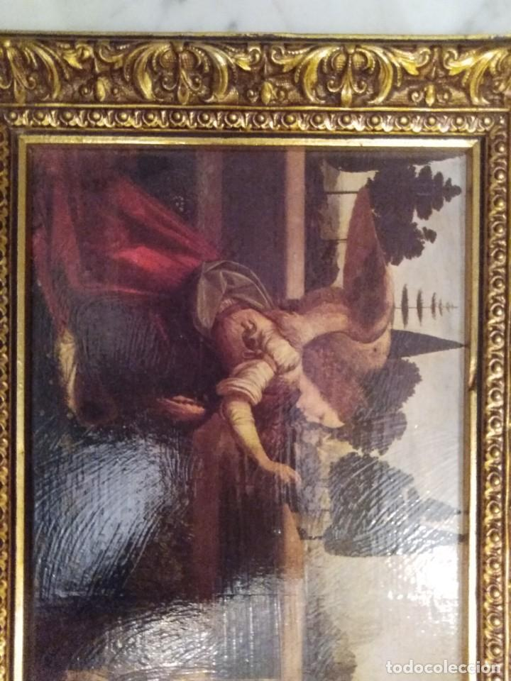 Arte: Cuadro El ángel visita a María - Anunciación - Foto 6 - 210036917