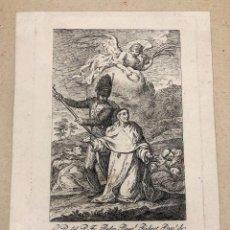 Arte: GRABADO AGUAFUERTE RETRATO DEL PADRE FRAY PEDRO PASCUAL RUBERT. VALENCIA. C. 1750. Lote 210084235