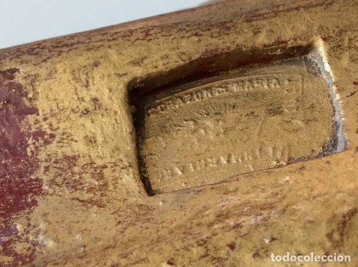 Arte: Imagen del Sagrado Corazón con sello de la desaparecida estatuaria del Sagrado Corazon con peana - Foto 24 - 171503603