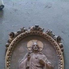 Arte: SAGRADO CORAZÓN DE JESUS, ARTE CRISTIANO GRANDIOSO. Lote 210117436