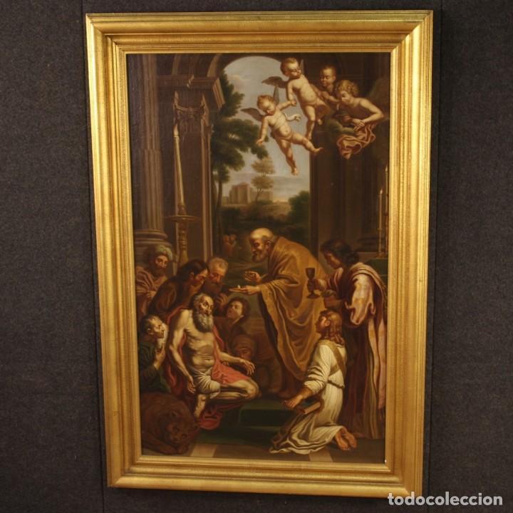 Arte: Pintura religiosa italiana antigua San Jerónimo del siglo XIX - Foto 3 - 210165080