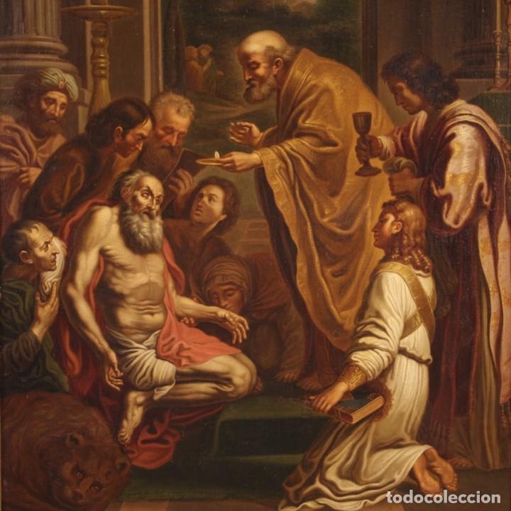 Arte: Pintura religiosa italiana antigua San Jerónimo del siglo XIX - Foto 4 - 210165080