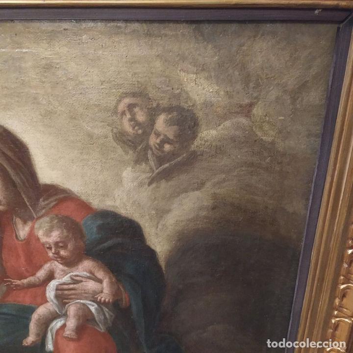 Arte: SAN IGNACIO DE LOYOLA Y LA VIRGEN MARIA. ÓLEO SOBRE LIENZO. ESPAÑA. SIGLO XVIII - Foto 8 - 210185686