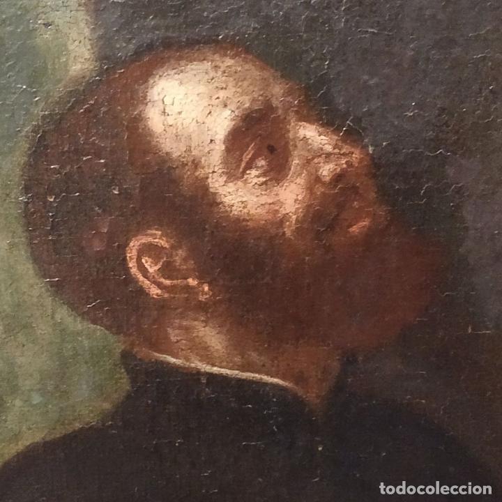 Arte: SAN IGNACIO DE LOYOLA Y LA VIRGEN MARIA. ÓLEO SOBRE LIENZO. ESPAÑA. SIGLO XVIII - Foto 16 - 210185686