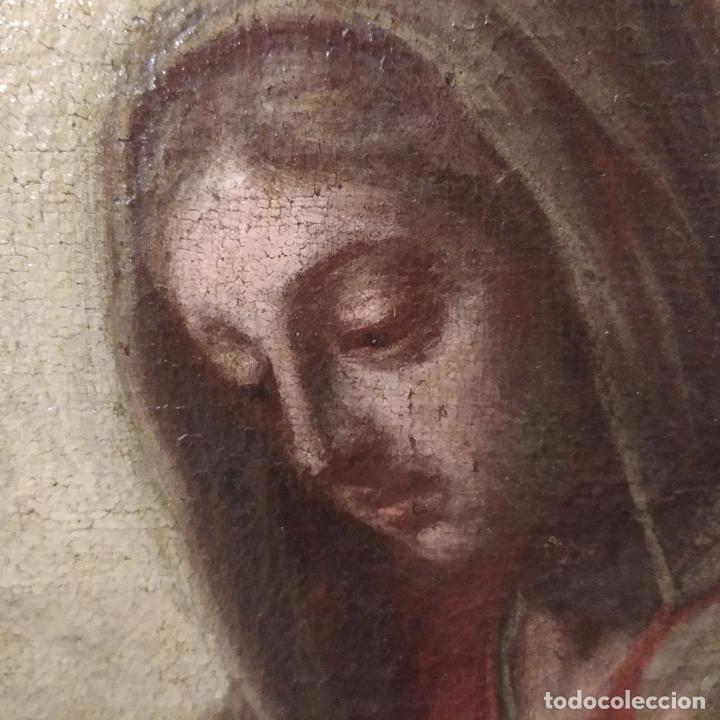 Arte: SAN IGNACIO DE LOYOLA Y LA VIRGEN MARIA. ÓLEO SOBRE LIENZO. ESPAÑA. SIGLO XVIII - Foto 19 - 210185686