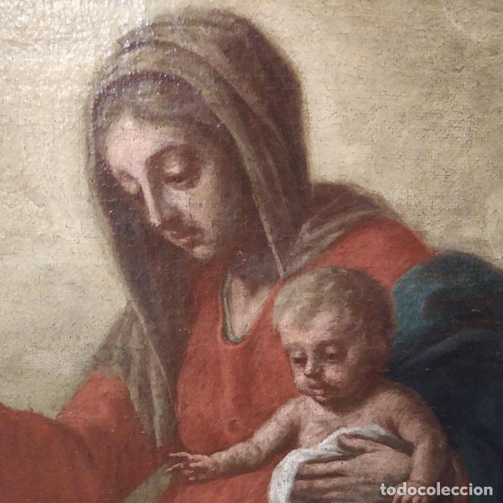 Arte: SAN IGNACIO DE LOYOLA Y LA VIRGEN MARIA. ÓLEO SOBRE LIENZO. ESPAÑA. SIGLO XVIII - Foto 20 - 210185686