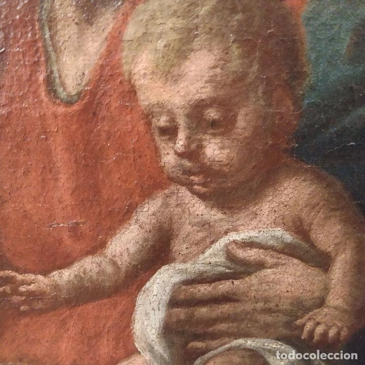Arte: SAN IGNACIO DE LOYOLA Y LA VIRGEN MARIA. ÓLEO SOBRE LIENZO. ESPAÑA. SIGLO XVIII - Foto 21 - 210185686