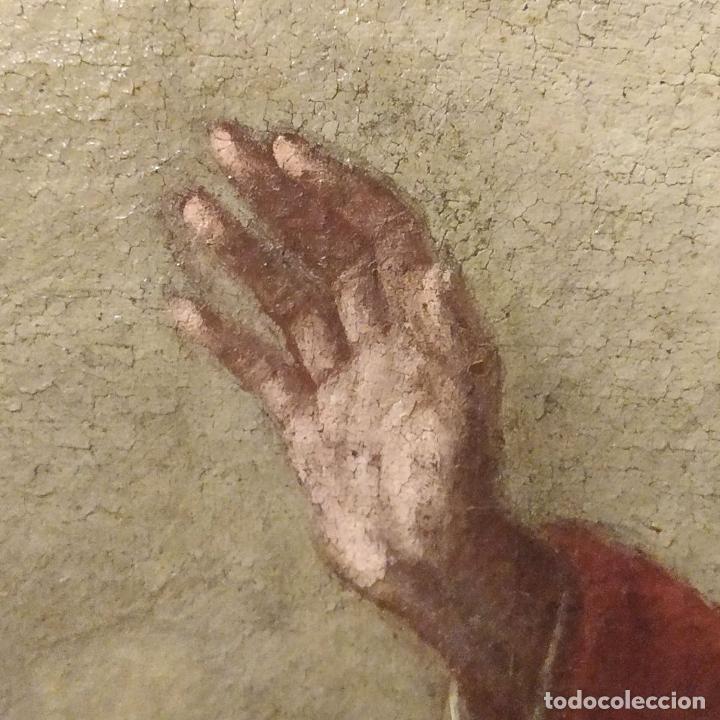 Arte: SAN IGNACIO DE LOYOLA Y LA VIRGEN MARIA. ÓLEO SOBRE LIENZO. ESPAÑA. SIGLO XVIII - Foto 22 - 210185686