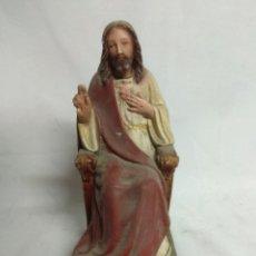 Arte: CRISTO REY FABRICADO EN ESCAYOLA.. Lote 210200665