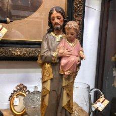Arte: FANTASTICO SAN JOSE SIGLO XIX TALLA MADERA CON OJOS DE CRISTAL - MEDIDA 46 CM - RELIGIOSO. Lote 210235773