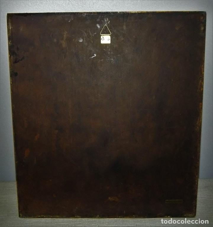 Arte: PRECIOSA TABLA RETABLO CON ESMALTES DEL PANTOCRATOR Y LOS SÍMBOLOS DE LOS EVANGELISTAS - Foto 11 - 210243650
