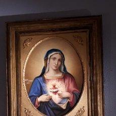 Arte: SAGRADO CORAZÓN DE MARIA. ÓLEO 1888.. Lote 210335373
