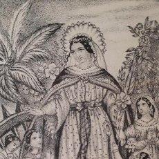Arte: SANTA CATALINA. (XILOGRAFIA). SIGLO XIX.. Lote 210388823