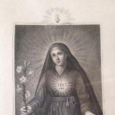 Arte: BEATA MARIANA DE JESÚS. GRABADO VALENCIANO.. Lote 210389597
