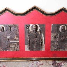 Arte: RETABLO CON MOTIVOS RELIGIOSOS. HIERRO Y MADERA. J. TEIXÉ. ESPAÑA. CIRCA 1950.. Lote 210392425