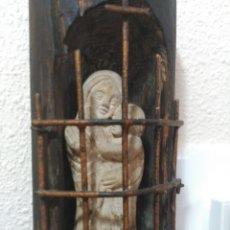 Arte: FIGURA ANTIGUA RELIGIOSA, AYUDA PARA TASAR. Lote 210425185