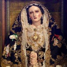 Arte: VIRGEN DOLOROSA DE VESTIR, TALLA DE MADERA (SIGLO XVIII/XIX). Lote 210466016