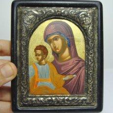 Arte: ICONO BIZANTINO. PLATA DE LEY .950 ML. Lote 210556248