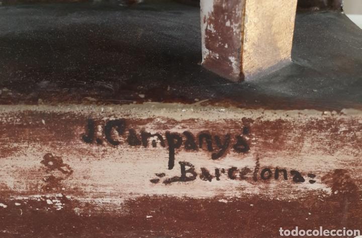 Arte: Gran Sagrado Corazón Sedente - J.Campanyà Barcelona.Pasta de Madera.ojos Cristal.Firmado.45CM. - Foto 13 - 210375220
