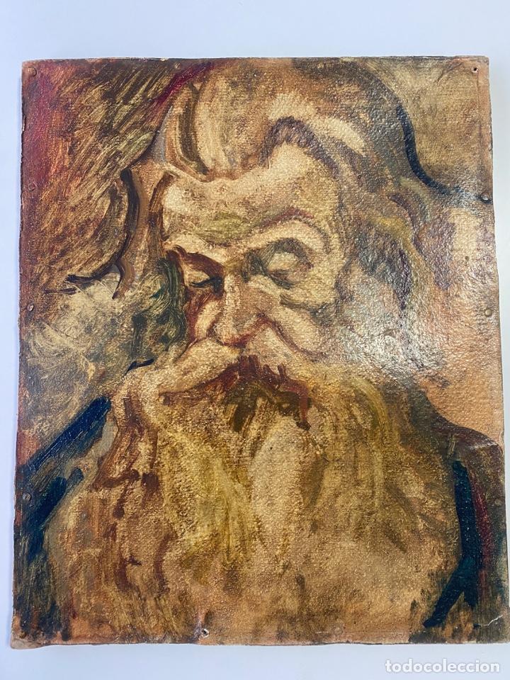 Arte: óleo sobre cartón , comienzos s. XX , personaje a investigar , obra sin firmar - Foto 5 - 209838145