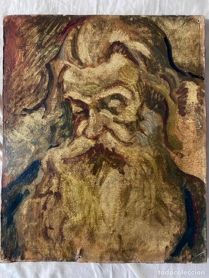 Arte: óleo sobre cartón , comienzos s. XX , personaje a investigar , obra sin firmar - Foto 6 - 209838145