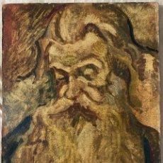 Arte: ÓLEO SOBRE CARTÓN , COMIENZOS S. XX , PERSONAJE A INVESTIGAR , OBRA SIN FIRMAR. Lote 209838145
