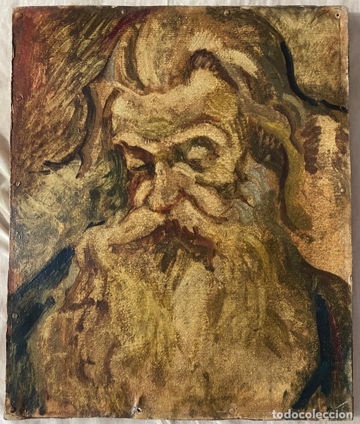 Arte: óleo sobre cartón , comienzos s. XX , personaje a investigar , obra sin firmar - Foto 7 - 209838145