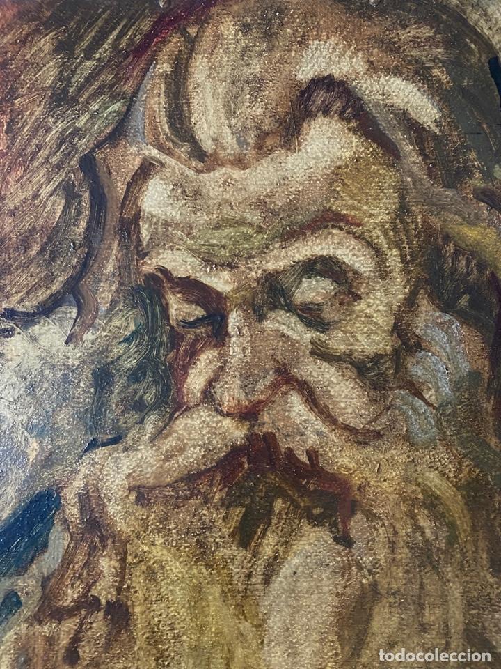 Arte: óleo sobre cartón , comienzos s. XX , personaje a investigar , obra sin firmar - Foto 8 - 209838145