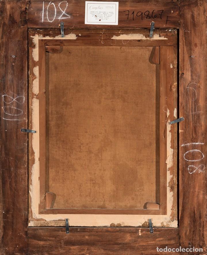 Arte: FRANCISCO ANTOLÍNEZ Y OCHOA Magnífico Óleo sobre lienzo con etiqueta de la Galería Caylus Enmarcado - Foto 11 - 195498620