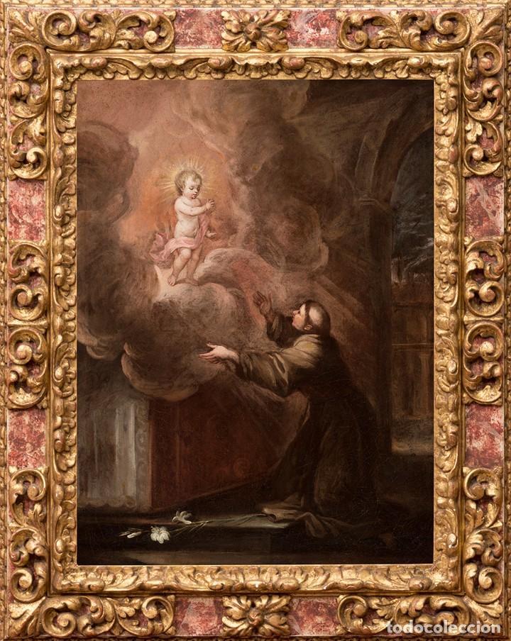 FRANCISCO ANTOLÍNEZ Y OCHOA MAGNÍFICO ÓLEO SOBRE LIENZO CON ETIQUETA DE LA GALERÍA CAYLUS ENMARCADO (Arte - Arte Religioso - Pintura Religiosa - Oleo)