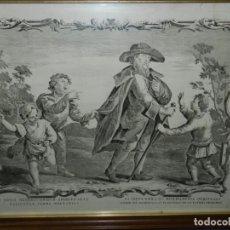 Arte: (M) GRABADO RELIGIOSO ANTIGIO S.XVIII - LA SEXTA OBRA MISERICORDIA SPIRITUALE. Lote 210669714