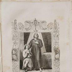 Arte: SIGLO XIX LITOGRAFIA SAN VALENTIN, MARTIR,,17X26 CMS. Lote 210685117