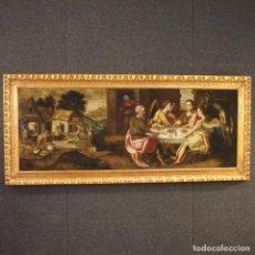 Arte: PINTURA FLAMENCA ANTIGUA ABRAHAM Y LOS TRES ÁNGELES DEL SIGLO XVIII. Lote 210718512
