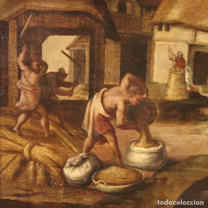 Arte: Pintura flamenca antigua Abraham y los tres ángeles del siglo XVIII - Foto 9 - 210718512
