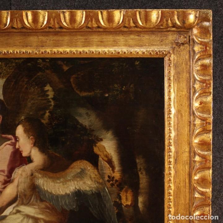 Arte: Pintura flamenca antigua Abraham y los tres ángeles del siglo XVIII - Foto 10 - 210718512