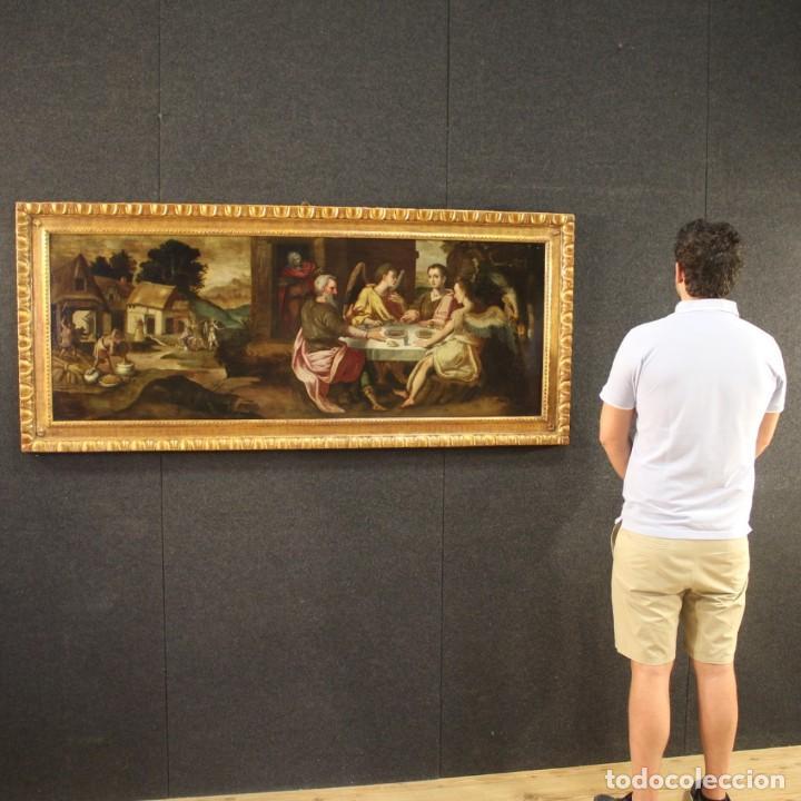 Arte: Pintura flamenca antigua Abraham y los tres ángeles del siglo XVIII - Foto 11 - 210718512