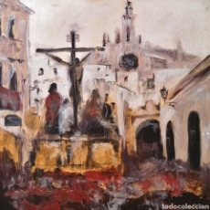 Arte: CUADRO IMPRESIONISTA SEMANA SANTA DE SEVILLA. Lote 210797755