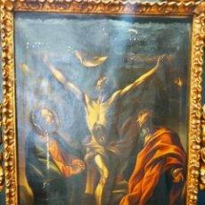 Arte: CUADRO CRISTO EN EL CALVARIO ANTIGUO. Lote 210824442