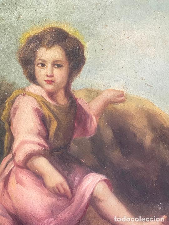 Arte: óleo sobre tabla , firmado m. reville , copia de murillo - Foto 3 - 210826832