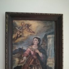 Arte: SANTA BARBARA OLEO SOBRE TABLA SIGLO XVIII. Lote 210823485