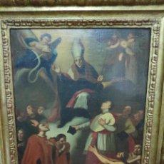 Arte: ESCENA RELIGIOSA - OBISPO SANTO Y MOSQUETEROS. Lote 210980244