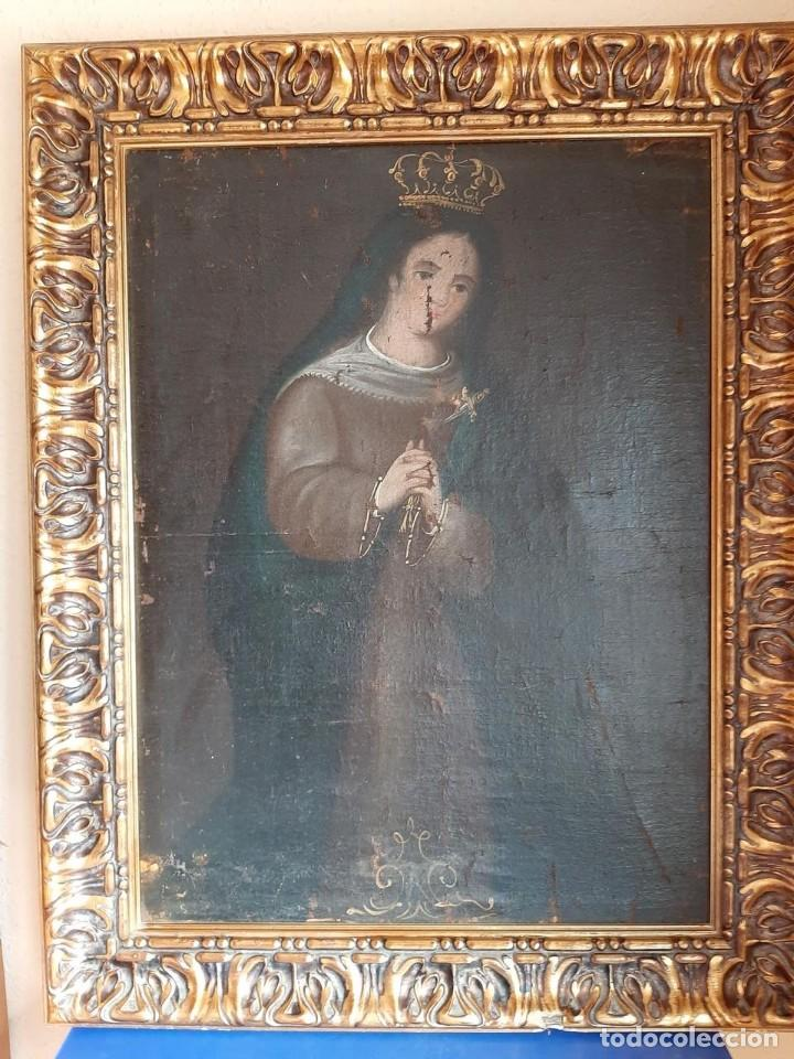 (ANT-200780)OLEO SOBRE LIENZO VIRGEN DE LOS DOLORES - SIGLO XVIII (Arte - Arte Religioso - Pintura Religiosa - Oleo)