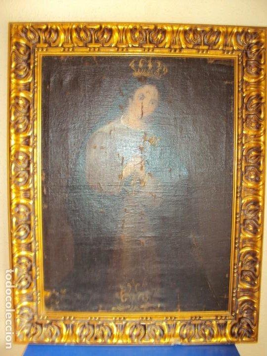 Arte: (ANT-200780)OLEO SOBRE LIENZO VIRGEN DE LOS DOLORES - SIGLO XVIII - Foto 2 - 211265699