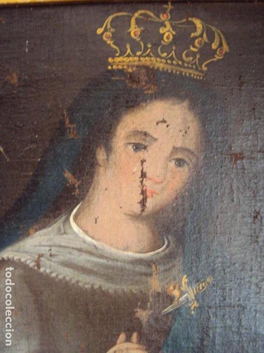 Arte: (ANT-200780)OLEO SOBRE LIENZO VIRGEN DE LOS DOLORES - SIGLO XVIII - Foto 4 - 211265699