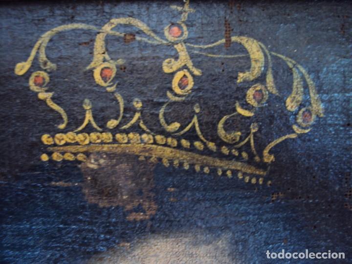 Arte: (ANT-200780)OLEO SOBRE LIENZO VIRGEN DE LOS DOLORES - SIGLO XVIII - Foto 5 - 211265699