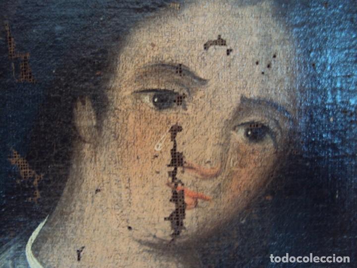 Arte: (ANT-200780)OLEO SOBRE LIENZO VIRGEN DE LOS DOLORES - SIGLO XVIII - Foto 6 - 211265699