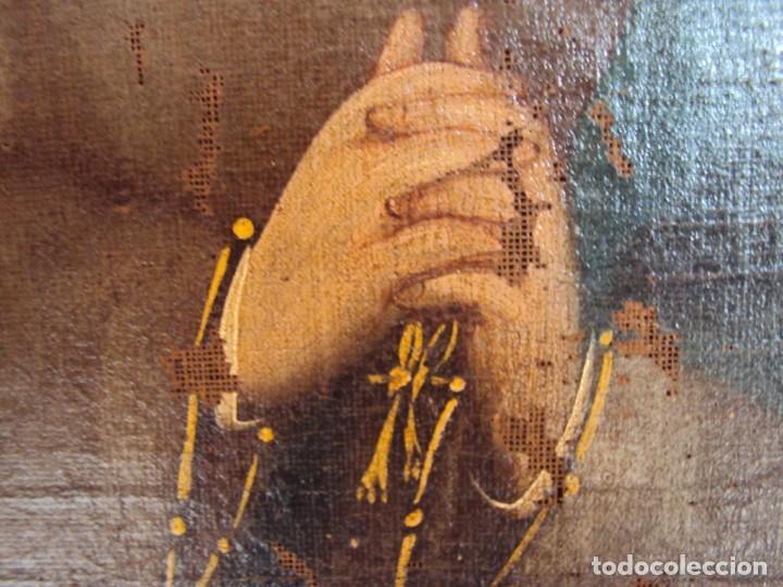 Arte: (ANT-200780)OLEO SOBRE LIENZO VIRGEN DE LOS DOLORES - SIGLO XVIII - Foto 8 - 211265699