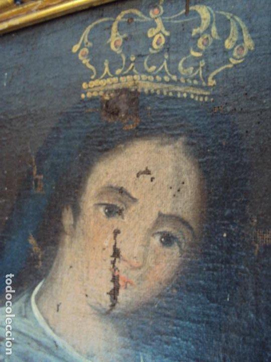 Arte: (ANT-200780)OLEO SOBRE LIENZO VIRGEN DE LOS DOLORES - SIGLO XVIII - Foto 12 - 211265699