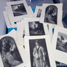 Arte: SUPER LOTE DE 50 LAMINAS GRABADOS. ESCENAS RELIGIONAS EN SU MAYORIA. HAY 23 GRABADOS DIFERENTES.. Lote 211396570