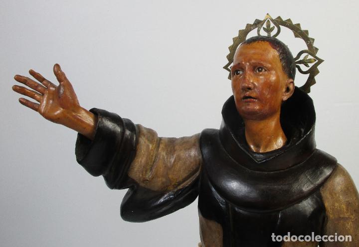 Arte: San Pascual Bailón - Talla de Madera Policromada - Cabeza Extraíble - S. XVIII-XIX - Foto 10 - 211402261
